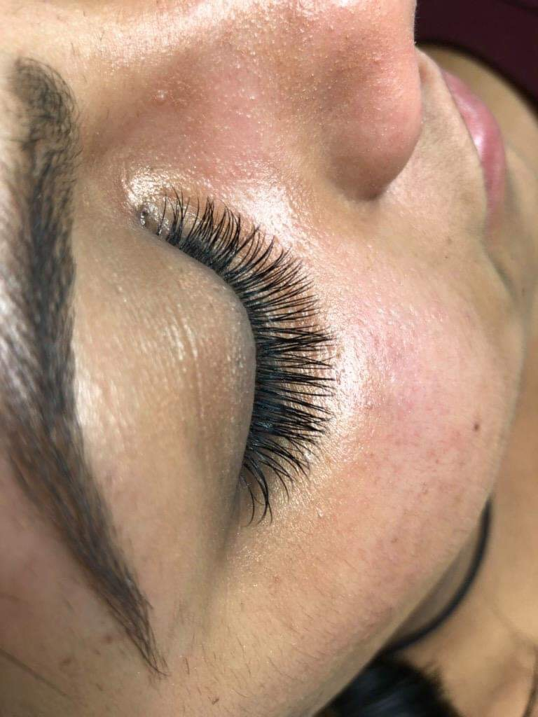 Close up of face with Classic Lashes